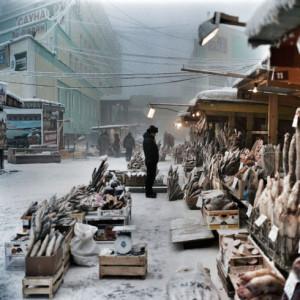 Рыбный рынок в Якутске