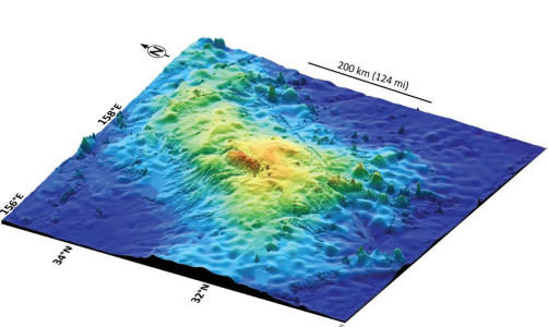 На дне Тихого океана находится самый крупный вулкан планеты Таму