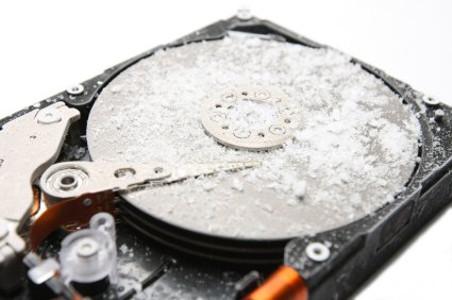 Замороженный жесткий диск