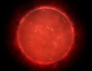Красный карлик в созвездии Водолея