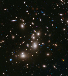 Древнейшее скопление галактик обнаружено двумя телескопами