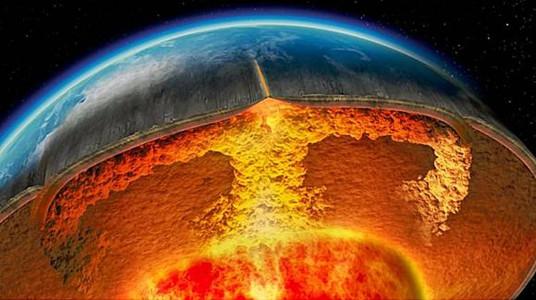 Скалы в мантии Земли