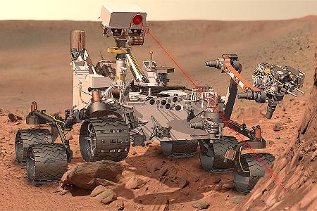 Марсоход на Марсе